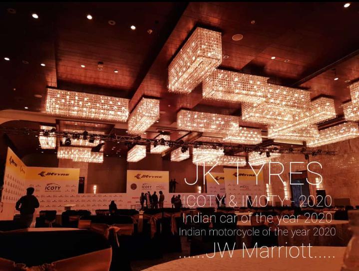 IIEM student organized JK Tyre Event in JW Marriot during Internship